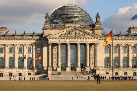 El parlamento alemán en Berlín