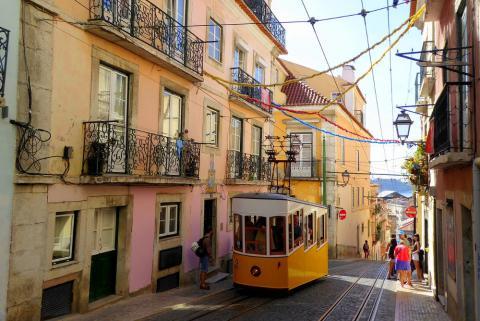Portugal, calle de Lisboa
