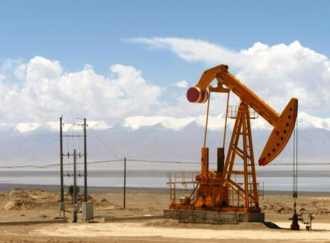Pozo de petróleo en Kuwait