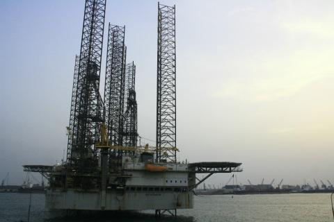 Pozo de petróleo en Nigeria