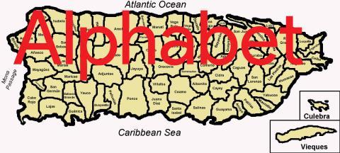 Puerto Rico Alphabet