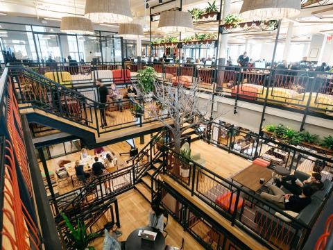 La sede de WeWork en Chelsea, Nueva York.