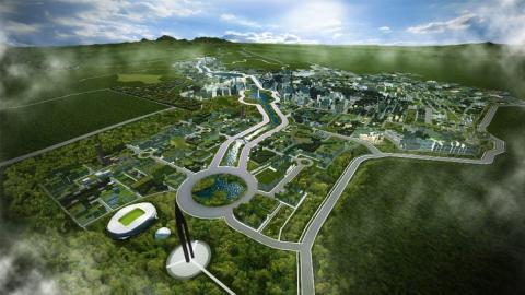 La ciudad se extenderá a lo largo de 58 kilómetros cuadrados.