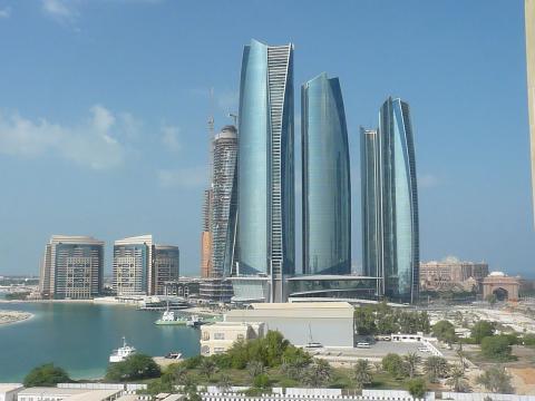 Torres en Abu Dhabi, Emiratos Árabes unidos