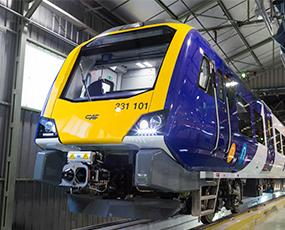 Uno de los trenes de Construcciones y Auxiliar de ferrocarriles