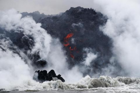 USGS geologist Janet Babb told Reuters that laze plumes from the Kilauea eruption could extend as far as 15 miles.