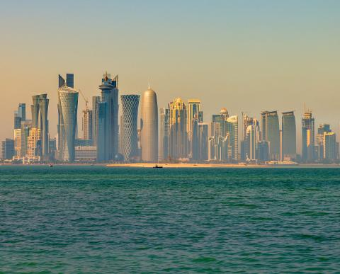 Vista de Doha en Qatar