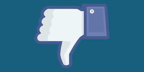 Icono de votos en contra de Facebook.