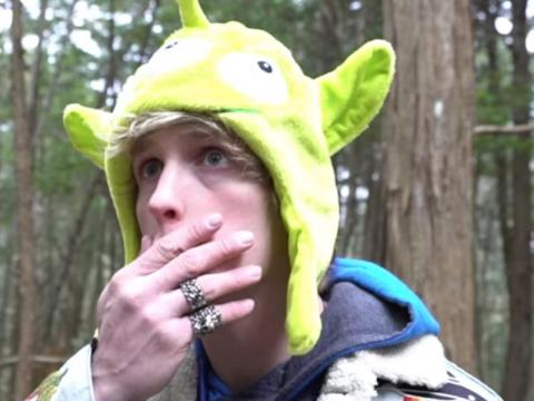 A clip from Logan Paul's notorious video from Japan's suicide forest.