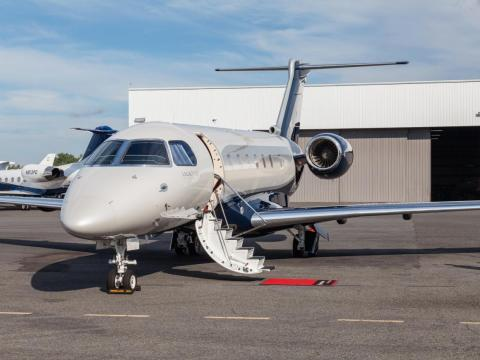 """1. Embraer Legacy 500: Unlike, the other jets on this list, the Embraer Legacy 500 is a midsize plane designed to operate shorter routes. At """"just"""" $20 million, it's also the most affordable of the eight planes."""