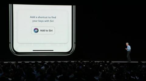 Craig Federighi, Apple's senior vice president of software engineering, discusses one of the new features in Siri, Apple's voice assistant, at the company's WWDC developer conference on Monday.