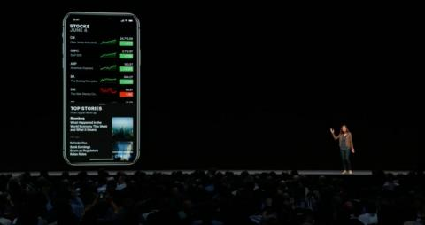 8. Apple's Stocks app is getting a pretty big overhaul. Now, you see various stocks you're following. In iOS 12, you'll also get news headlines about those stocks, thanks to an integration with Apple News.