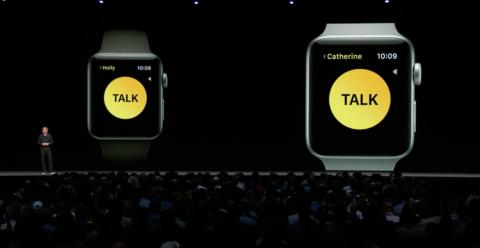 14. The Apple Watch has a new way to communicate: Walkie-talkie. Just choose a person to Walkie-Talkie with, and once that person accepts your request, you two can Walkie-Talkie whenever you like. You just push into your watch,