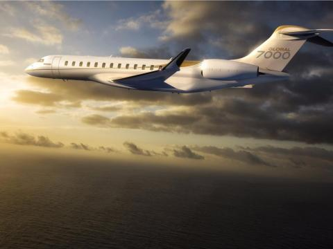4. Bombardier Global 7000: Like the G650ER, the Global 7000 is designed to be the ultimate long-distance, purpose-built private jet. The $73 million aircraft is set to enter service in the second half of this year.