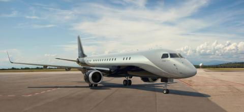 5. Embraer Lineage 1000E: This is the first of the converted airliners on the list. It's based on the popular Embraer E190 regional airliner.