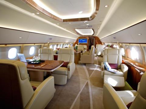 The ACJ319neo costs $101.5 million before the installation of custom interior fittings. The jet has a range of nearly 7,800 miles and can fly nonstop from Los Angeles to Geneva, Switzerland.