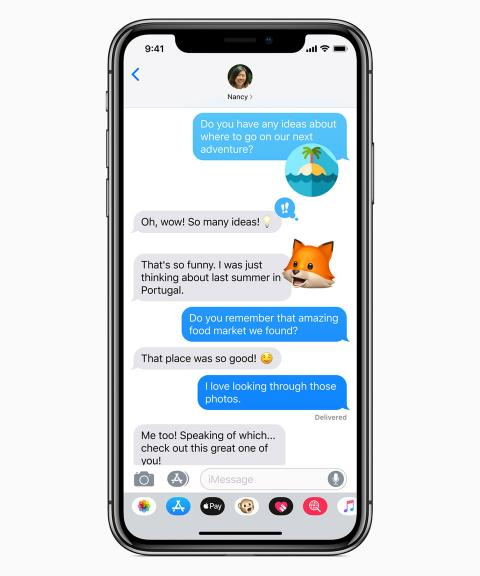 Actualización iOS12: iMessages