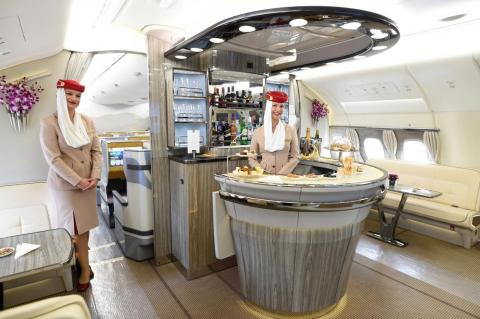 The Airbus jumbo delivered, at least to airlines that wanted to take advantage of luxurious options. Premium features, such as walk-up bars ...