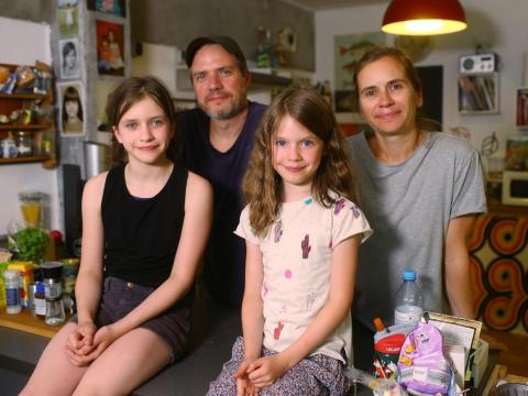 Alexander Raduenz of Berlin, Germany, said he, his wife, and two daughters are trying to lower their carbon footprint as much as possible.