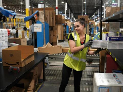 Amazon says it has employed workers from its fulfillment centers to tweet positively about working conditions.