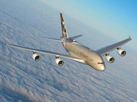 ... and Etihad took delivery of the plane.