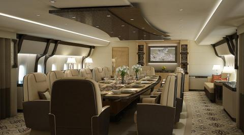... and a stately dining room, which can be converted into a corporate boardroom.