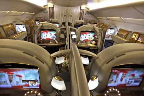 And then there are the first-class suites that Emirates offers ...