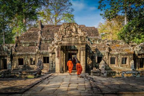 Fotografía de Angkor Wat, en Camboya.