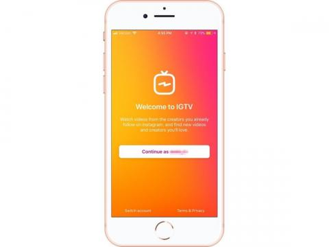 """Because IGTV and Instagram work closely together, you don't have to create a separate IGTV login. As long as you're logged into the main Instagram app, all you have to do is hit """"Continue."""""""