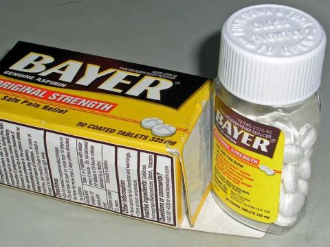 bote de aspirinas