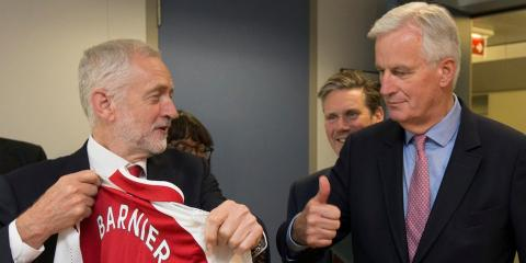 Brexit: Jeremy Corber y Michel Barnier (RE)