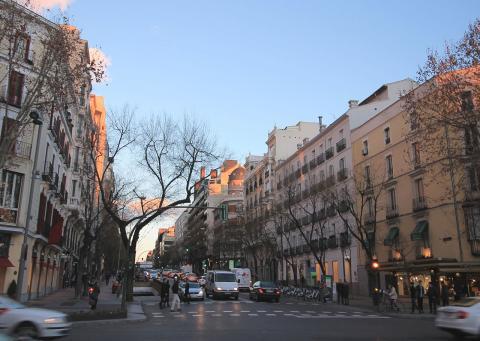 Calle Ortega y Gasset en Madrid.