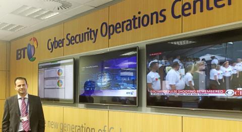 Centro de operaciones en ciberseguridad de BT en Madrid