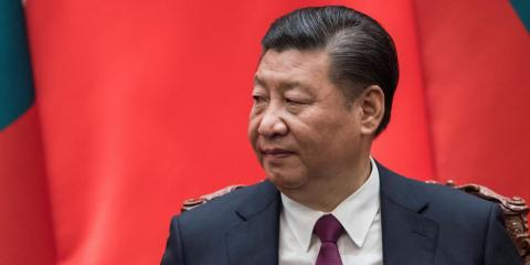 Xi at the Great Hall of the People in Beijing in December 2017.