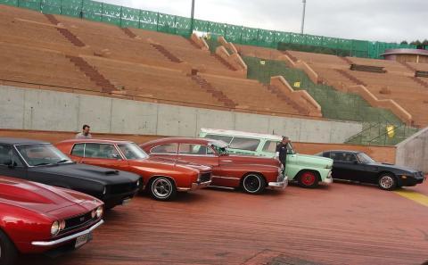 Los coches participantes en el concurso