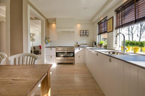 La cocina de una casa moderna