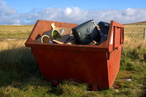 contenedor con basura