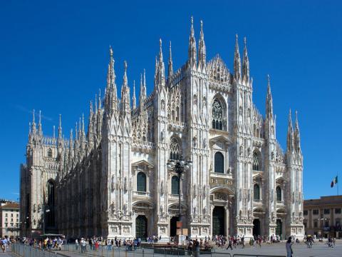 Foto de la Catedral del Duomo, en Milán.