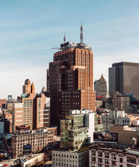 Edificio AT & T Long Distance en 32 Avenue os the Americas, Nueva York.