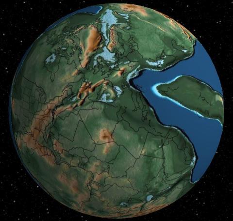 España hace 240 millones de años