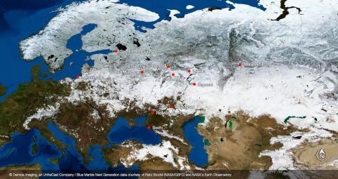 Los estadios están repartidos por toda Rusia.Esto hará que las temperaturas y condiciones atmosféricas varíen, dependiendo de dónde se jueguen los partidos.