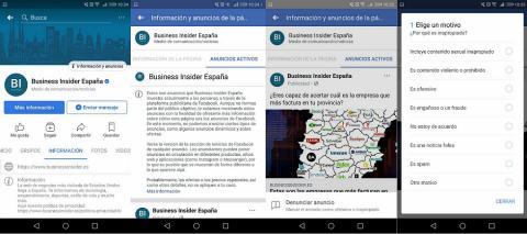Facebook anuncios páginas