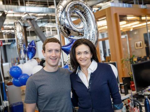 Facebook CEO Mark Zuckerberg and COO Sheryl Sandberg