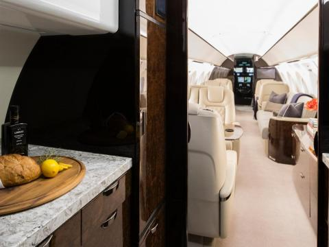 The G500 features bespoke cabins with seating tailored to the needs of the customer.