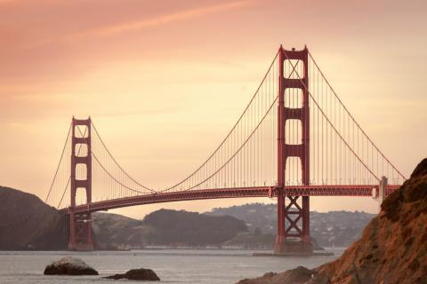 Foto del Golden Gate, en California.