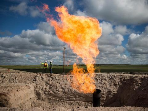 However, North Dakota's oil boom hit an abrupt roadblock in 2014 and 2015, when the price of oil plunged from more than $100 a barrel to about $30.