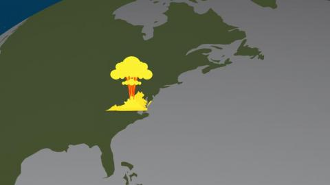 It could destroy an area the size of the US state of Virginia.