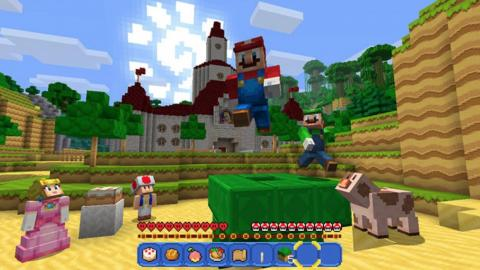 "Nintendo characters even appear in the Microsoft-owned ""Minecraft."""