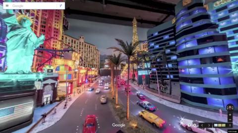 It's not Las Vegas without the bright lights and the miniaturized statues from around the world.