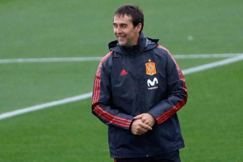 Julen Lopetegui, seleccionador nacional y futuro entrenador del Real Madrid